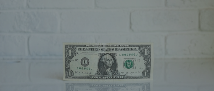 A U.S. one dollar bill signifying what communities like Eugene can gain from the Mozilla Gigabit Development Fund